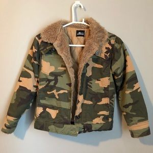 🌸Camo Fur Collar Jacket